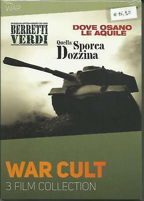Dvd Cofanetto War Cult Collection  3 Film  In Italiano