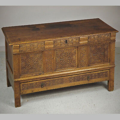 Antique Coffer / Mule Chest - Oak (delivery available)