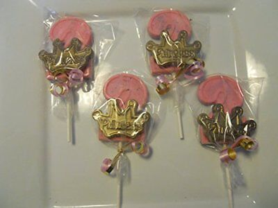 12 Disney Princess Crowns Pink Gold 2nd Birthday Party Favors