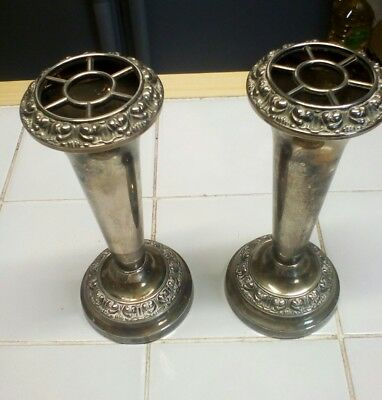 2 x silver plated candle sticks