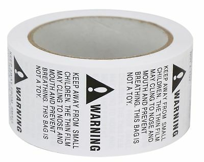 """2 Rolls/1000 Labels,Suffocation Warning,Keep Away from Small Children,2"""" X 2""""..."""