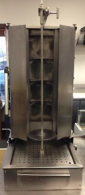 Potis F-D4-S 150lb. Vertical Broiler – Gas Gyro Machine Tested and Working!