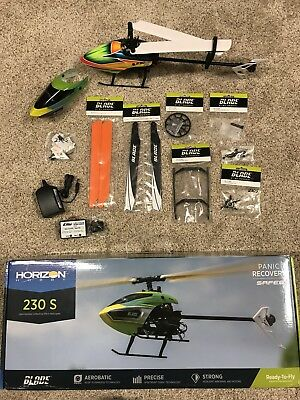 Blade 230 S BNF Flybarless Electric Collective Pitch Helicopter and extra parts
