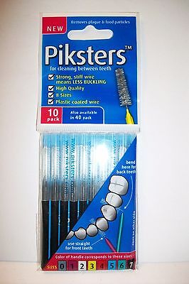 Piksters Interdental Brush - Size 7 Black - 10 Brushes Per Pack