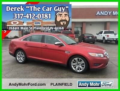 2010 Ford Taurus Limited Used 2010 Ford Taurus Limited 3.5L Auto AWD Sedan Red Leather