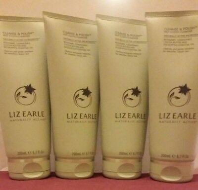 4 LIZ EARLE 200ml CLEANSE AND POLISH HOT CLOTH CLEANSER - DOUBLE DEAL (800ml)