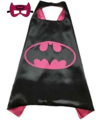 Children kids Batman Bat Girl Mei red bat costume cape Mask Party good gift