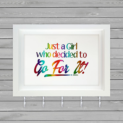 Just A Girl Who Decided To Go For It  - Sports Medal Hanger Holder - UK Seller
