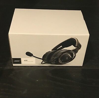 Bose A20 Aviation Headset with Bluetooth - Straight Chord - Twin Plug (Dual GA)