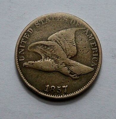 Rare Better Date 1857 Flying Eagle Cent Penny XF 1C Coin