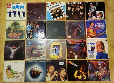 52 x LP Beatles Stones Hollies Nektar Dylan Joplin Shocking Blue Donovan Nice
