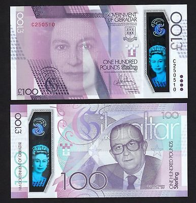 Gibraltar 100 Pounds New 2017 UNC Polymer