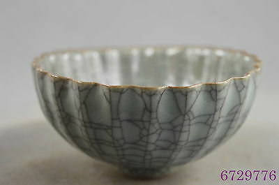 china collectible porcelain carve blooming glossy lotus auspicious delicate bowl