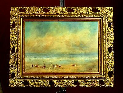 Beautiful Early C20th Impressionist School Oil  - Extensive Seascape