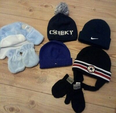 baby boys nike tommy Hilfiger converse winter hat bundle age 6-12 months