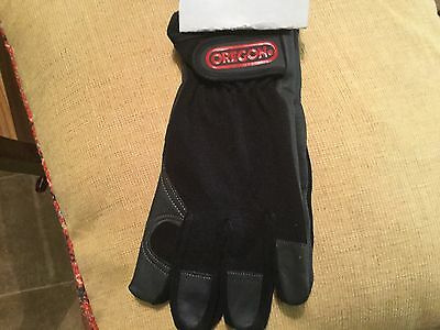 OREGON LEATHER and 4 WAY STRETCH FABRIC WORKING GLOVES size L cat11