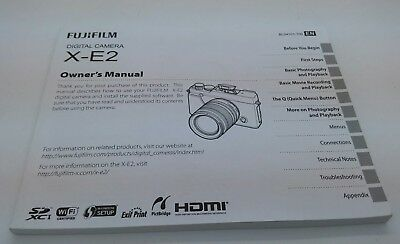Original FUJIFILM X-E2 camera Instruction Manual (p.132)