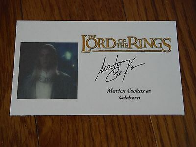 Marton Csokas Autographed 3x5 Paper Lord of the Rings Hand Signed Celeborn
