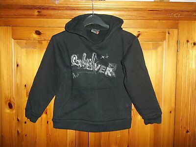 *Nice Boys Hooded Black Quicksilver Jumper/Hoodie age 4 years*