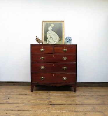 Quality Georgian Chest of Drawers, 19thC Antique Masculine Bedroom Drawers