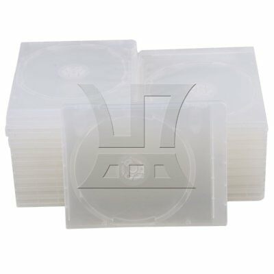 13.5x17x1cm Square Plastic Jewel Case for CD Container Set of 20 Clear
