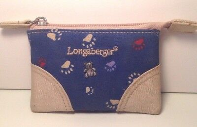 Longaberger Boyd's Bear Zip Coin Purse Brand New RARE Only One Ever Produced!