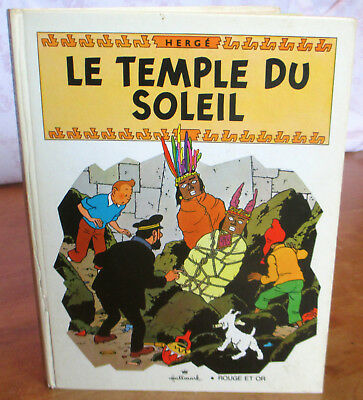 tintin le temple du soleil hallmark rouge et or pop up book 1969 picclick ca. Black Bedroom Furniture Sets. Home Design Ideas