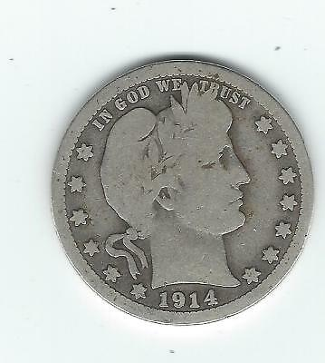 Key Date 1914 S Barber Quarter Only 264,000 Minted NICE!!