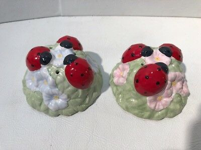 Lenox Butterfly Meadow Ladybug Salt and Pepper Shakers Set