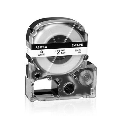 Compatible for EPSON LC-4WBN Label Tape Black on white 1/2'' LW400 LW300 LW700