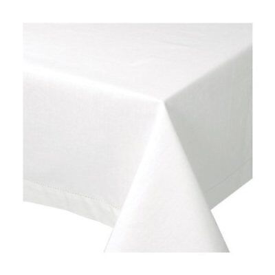 Now Designs Hemstitch Tablecloth, 60 by 60-Inch, White
