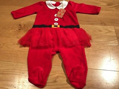 Next Baby Girls Christmas Tutu Sleepsuit 3-6 Months BNWT - Next Baby Xmas Outfit