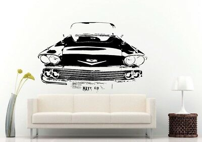 Wall Room Decal Vinyl Sticker American Muscle Old Antique Classic Sport Car L694