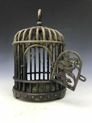 Chinese ancient collection of old pure copper cage made by hand minguo mark