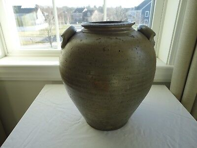 """Antique OHIO? 4 Gallon Ovoid Stoneware Crock Jar  - Stamped """"RICH"""" - Early Piece"""