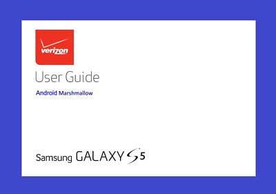 Samsung Galaxy S5 User Manual (Verizon model VZW-G900V, Android Marshmallow)