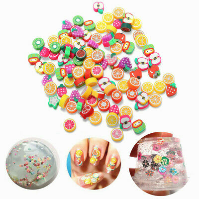 [NEW] 100PCS DIY Slime Accessories Decor Fruit Cake Flower Polymer Clay Toy Nail