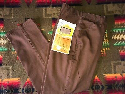 womens 33 30 vintage NOS Wrangler brown round leg western fit pants