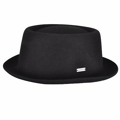Kangol USA Pork Pie Hat-2 Colors-S/M/L or X/L-100% Wool, Made In USA