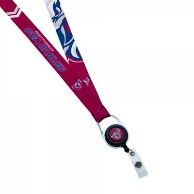Manly Sea Eagles Official NRL Lanyard Detachable Keyring Retractable ID Holder