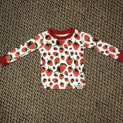 World Of Eric Carle Sz 2T L/S Very Hungry Caterpillar Strawberry Shirt Top EUC