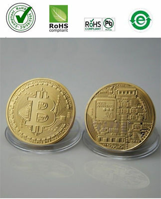 Hot Rare Collectible In Stock Golden Iron Bitcoin Commemorative Coin Gifts Gold