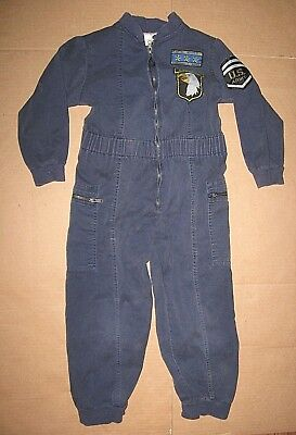 Vintage 90s Certified Kid US Army Airborne Special Forces Jumpsuit Coveralls