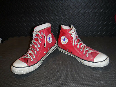 Vintage 1980S Converse Red Chuck Taylor All Star Shoes Size 9.5 Made In Usa L@@k
