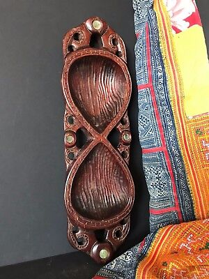 Old New Zealand Maori Hand Carved Wooden Bowl …beautiful collection piece