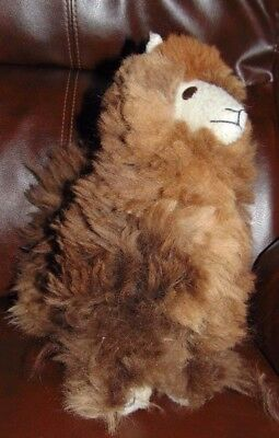Handmade By Our Artisan In Peru 10 Inches Standing Plush Alpaca Llama