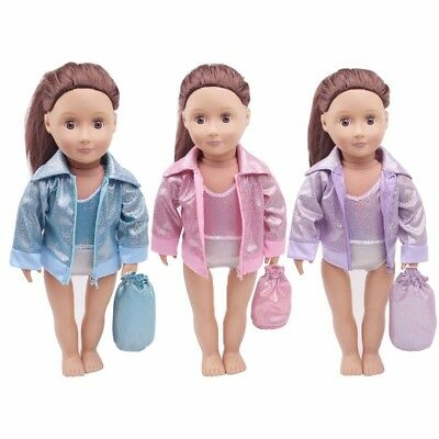 Swimsuit Bathing Clothes Outfit Set For 18inch American Girl Doll Gymnastics