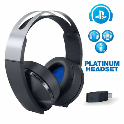 Genuine Sony Playstation 4 Platinum Wireless Headset for PS4 with Mic 3D Sound