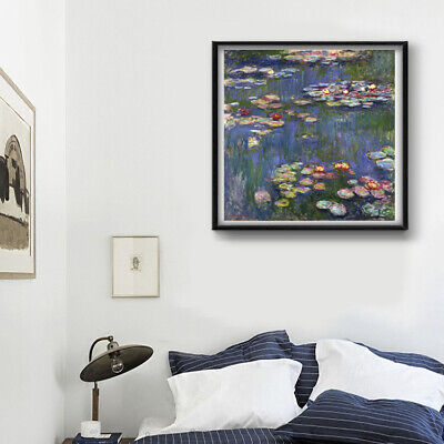 Monet Lotus Canvas Print Oil Painting Decor Thin Canvas Without Extra Border