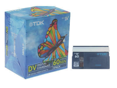 5 PACK TDK Mini DV Cassette/Tape - BRAND NEW (SP = 60 Min / LP= 90 Min)